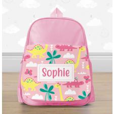 Personalised Pink Dinosaur Mini Backpack