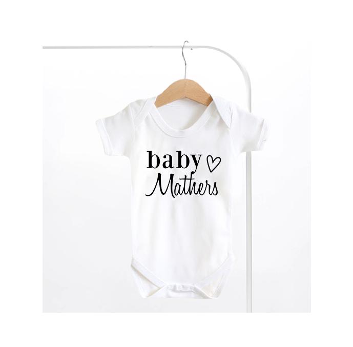 Heart Surname Baby Grow