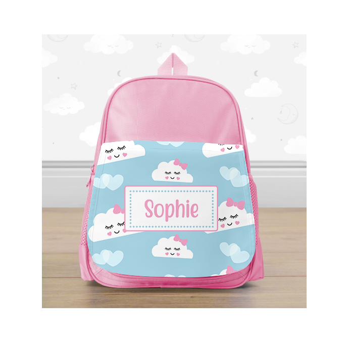 Personalised Happy Cloud Mini Backpack