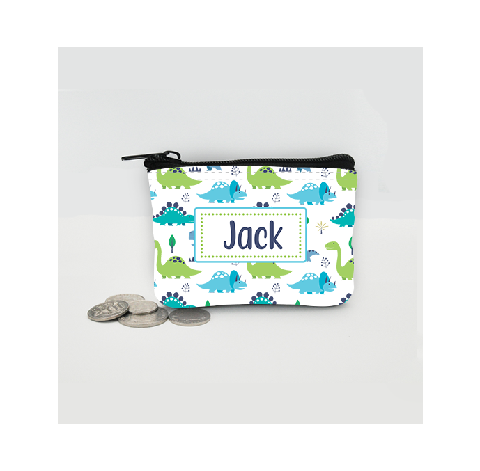 Personalised Dinosaur Coin Purse