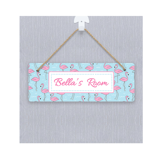 Personalised Flamingo Door Hanger