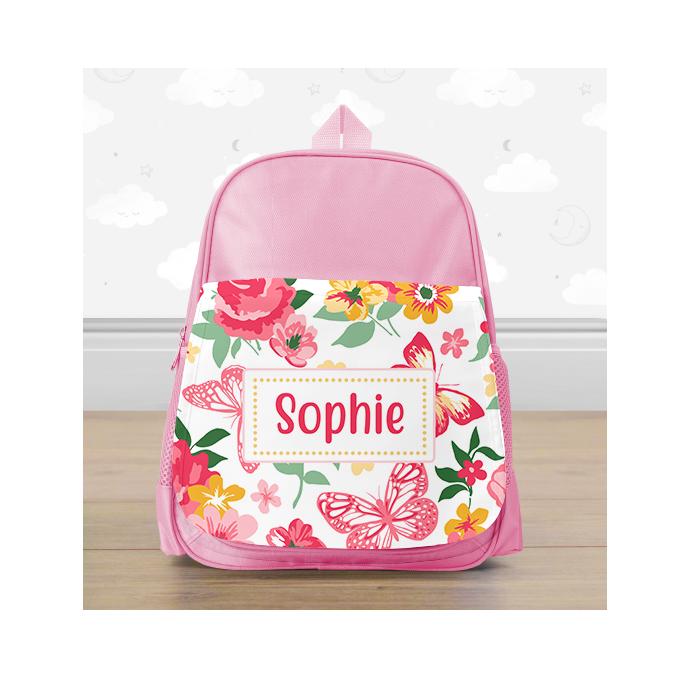 Personalised Floral Flowers Mini Backpack