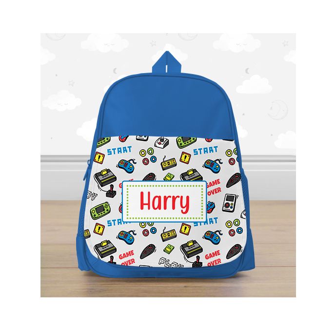 Personalised Colourful Gaming Mini Backpack