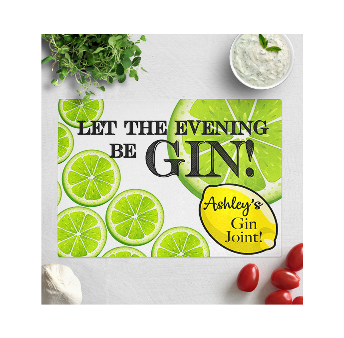 Personalised Gin Chopping Board