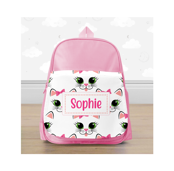 Personalised Kitty Cat Mini Backpack
