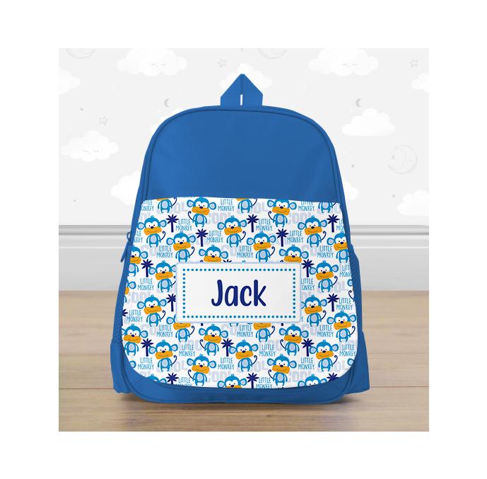 Personalised Little Monkey Backpack