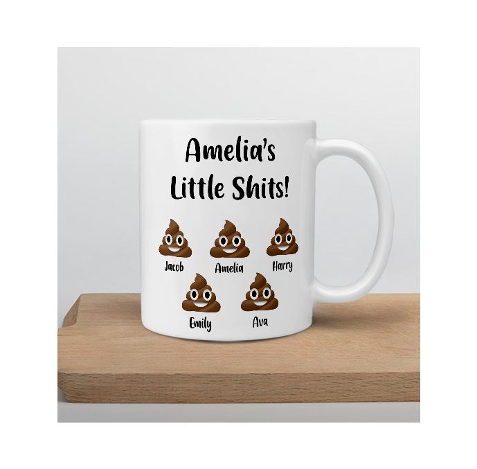 Personalised Little Shits Mug