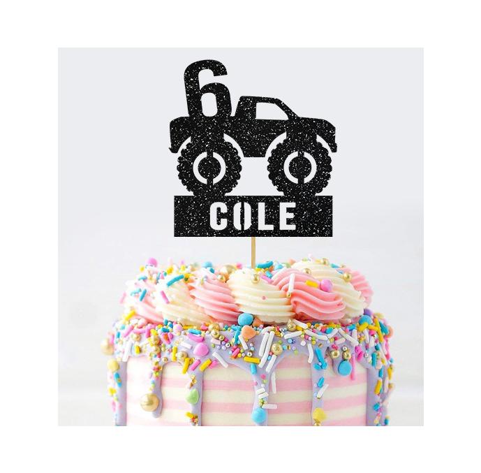 Personalised Monster Truck Cake Topper