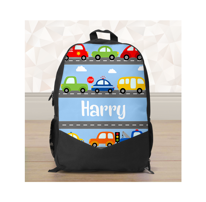 Personalised Cars & Transport Backpack