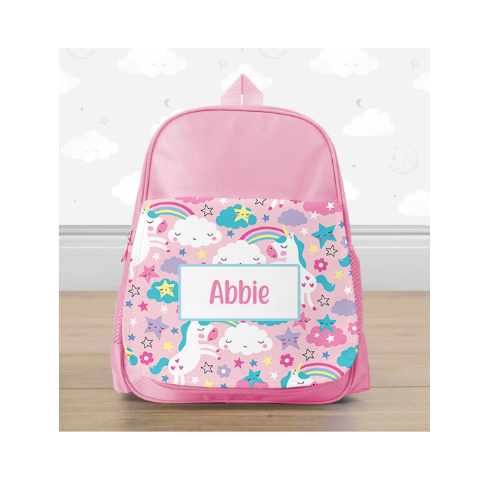 Personalised Colourful Unicorn Mini Backpack