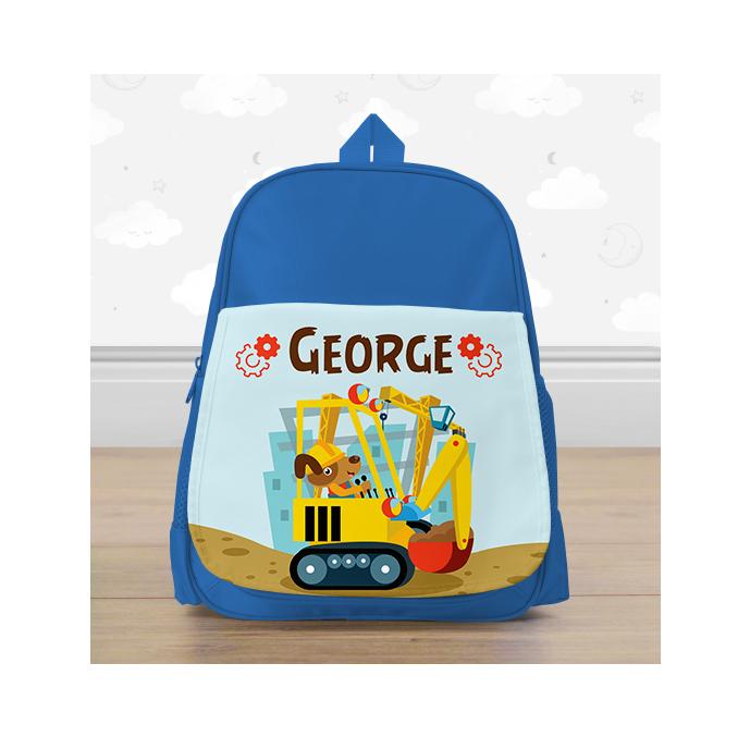 Personalised Big Digger Mini Backpack