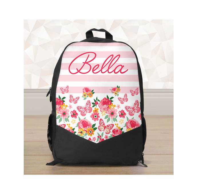 Personalised Floral Backpack