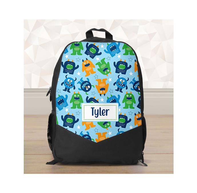 Personalised Little Monsters Backpack