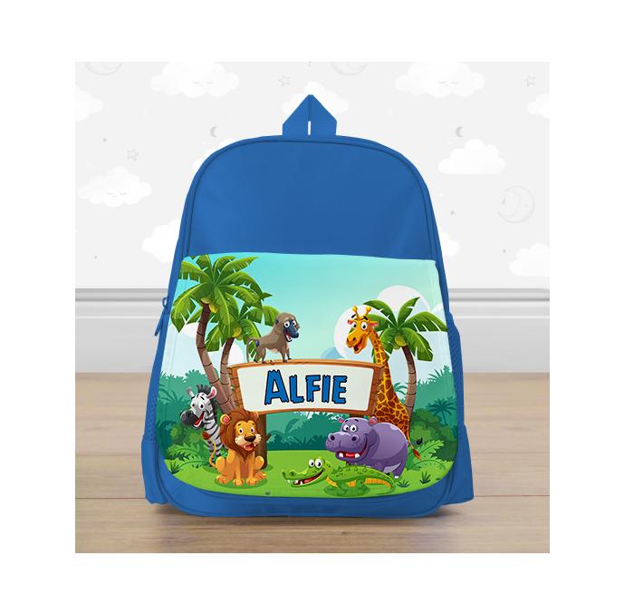 Personalised Safari Animals Mini Backpack