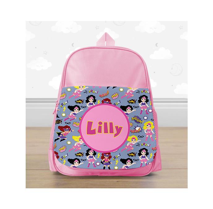 Personalised Superhero Mini Backpack