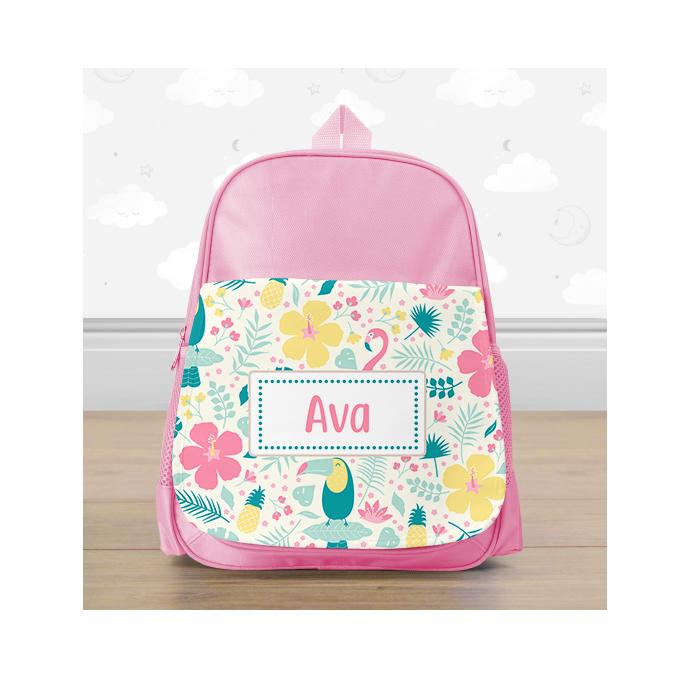 Personalised Tropical Mini Backpack