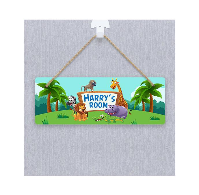 Personalised Safari Door Hanger