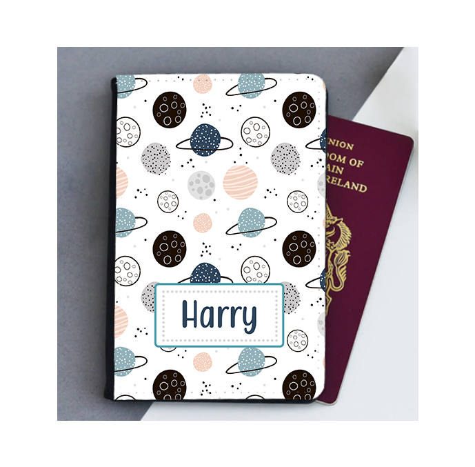 Personalised Space Planets Passport Cover