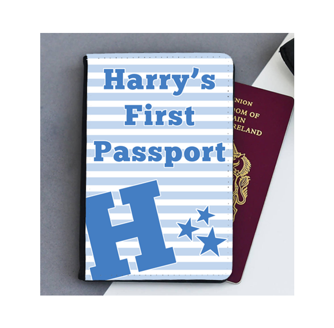 Personalised My First Passport Stripes Cover