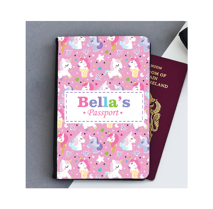Personalised Unicorn Passport Cover