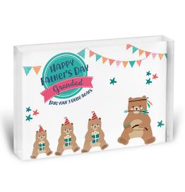 Personalised Little Bears Photo Block
