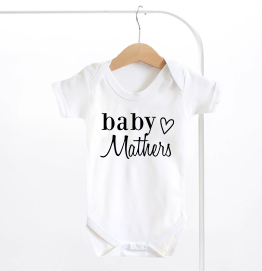 Heart Surname Baby Grow