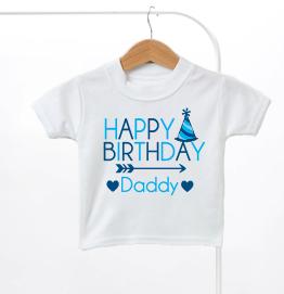 Happy Birthday Daddy Boys Kids T-Shirt