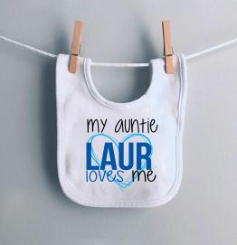 Personalised Auntie Loves Me Bib