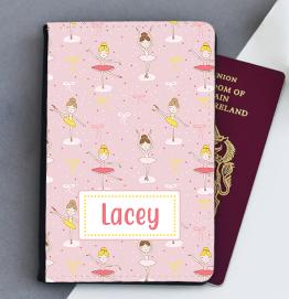 Personalised Ballerina Passport Cover