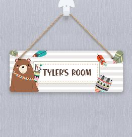 Personalised Bear Door Hanger