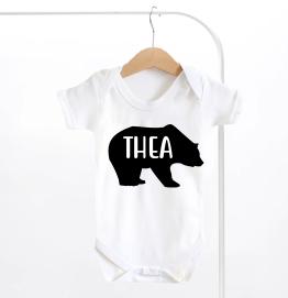 Personalised Bear Baby Grow