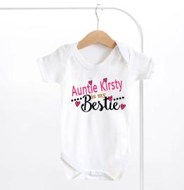Personalised My Auntie Is My Bestie Baby Grow