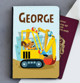 Personalised Big Digger Passport Cover
