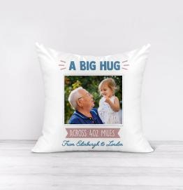 Personalised Big Hug From Across Miles Cushion