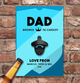 Personalised Brewdog Punk IPA Style Wall Mounted Bottle Opener