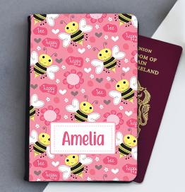 Personalised Bumblebee Passport Cover