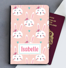 Personalised Bunny Rabbit Passport Cover