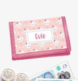 Personalised Bunny Rabbit Money Wallet