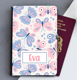 Personalised Butterfly Passport Cover