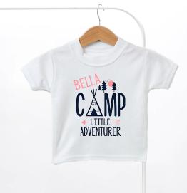 Personalised Little Adventurer Kids T-Shirt