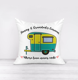 Personalised Love Never Ends Cushion