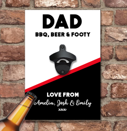 Personalised Carling Style Wall Mounted Bottle Opener