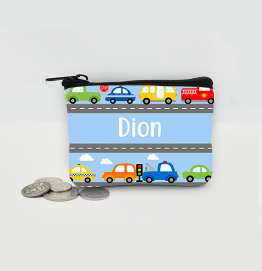Personalised Cars Coin Purse