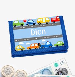 Personalised Cars Money Wallet