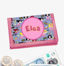 Personalised Superhero Girls Money Wallet