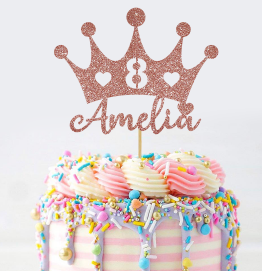 Personalised Princess Crown Cake Topper