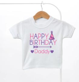Happy Birthday Daddy Girls Kids T-Shirt