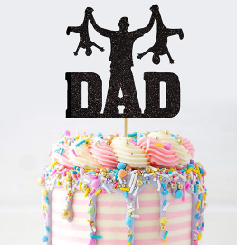 Happy Fathers Day Cake Topper Funny Kids