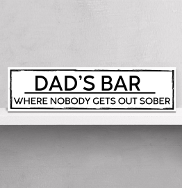 Personalised Dads Bar Sober Street Sign