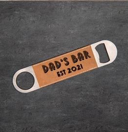 Personalised Dads Bar Bottle Opener